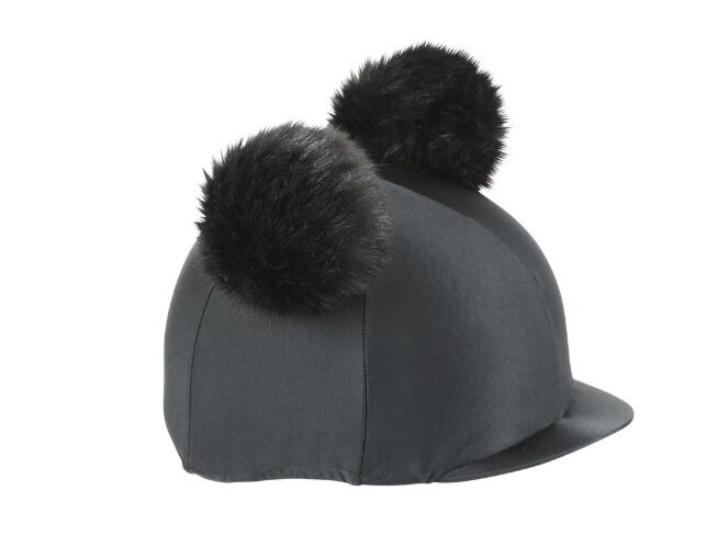 Shires Double Pom Pom Hat Cover - Black