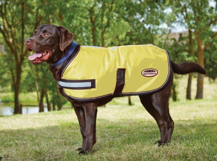 WeatherBeeta Reflective Parka 300D Dog Coat Yellow
