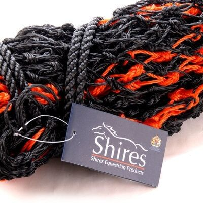 Shires Deluxe Large Haylage Net Black/Red