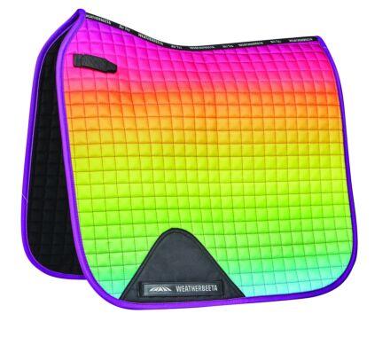 Weatherbeeta Prime Ombre Dressage Saddle Pad-Rainbow