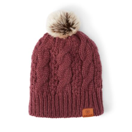 Ariat Cable Beanie Windsor Wine