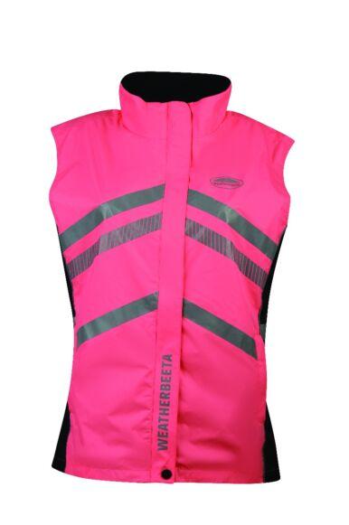 Weatherbeeta Reflective Lightweight Waterproof Vest Pink