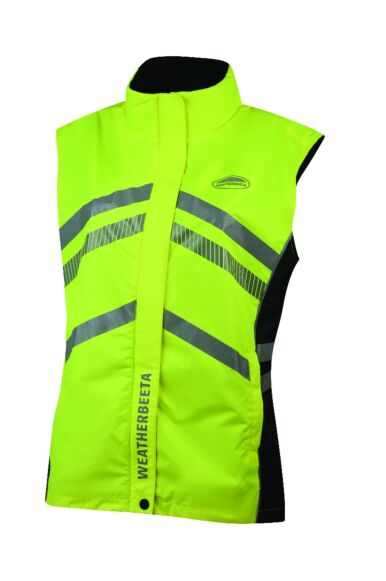 Weatherbeeta Reflective Lightweight Waterproof Vest Yellow