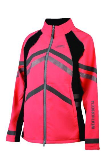 Weatherbeeta Junior Reflective Softshell Fleece Lined  Jacket Pink