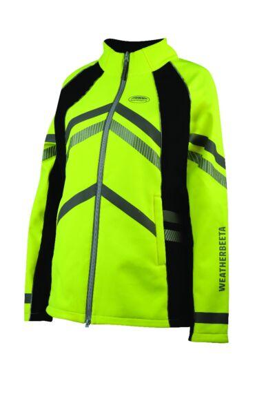 Weatherbeeta Reflective Softshell Fleece Lined  Jacket Yellow