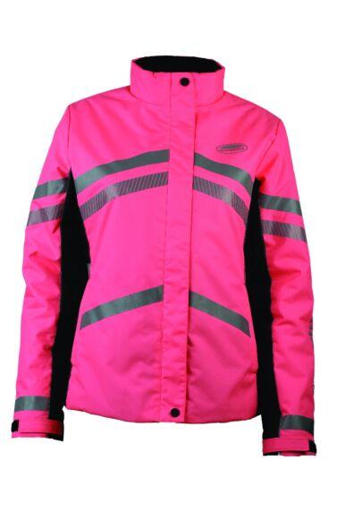 Weatherbeeta Reflective Heavy Padded Waterproof Jacket Pink