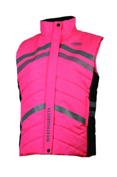 Weatherbeeta Junior Reflective Quilted Gilet Pink