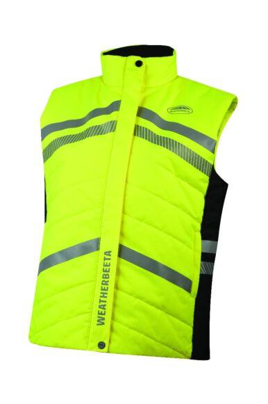 Weatherbeeta Junior Reflective Quilted Gilet Yellow