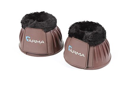 Shires Arma Fleece Top Overreach Boots- Brown
