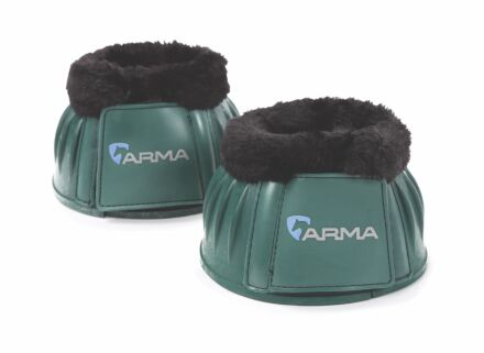Shires Arma Fleece Top Overreach Boots- Green