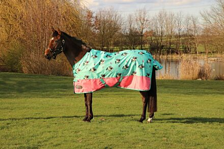 StormX Thelwell Original 0 Turnout Rug Mint/Pink/Teal