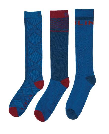 Dublin 3 Pack Socks Velvet Arctic Blue