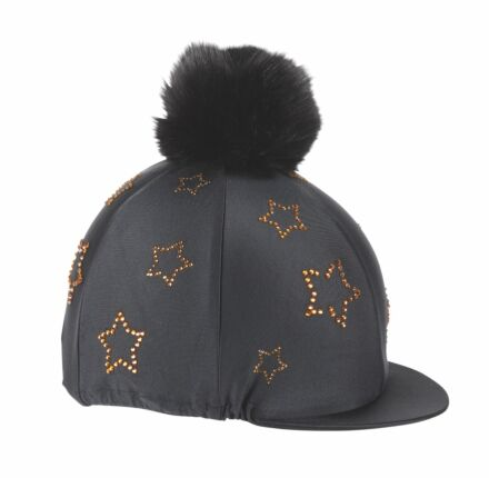 Shires Diamante Star Hat Cover- Black