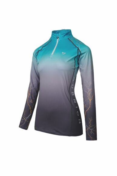 Shires Aubrion Hyde Park Cross Country Shirt- Teal Light