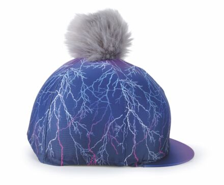 Shires Aubrion Hyde Park Hat Cover- Purple Lightening