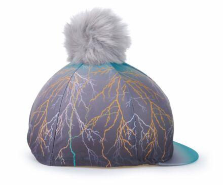 Shires Aubrion Hyde Park Hat Cover- Teal Lightening