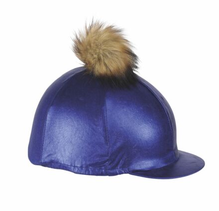 Shires Metallic Hat Cover- Blue