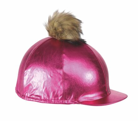 Shires Metallic Hat Cover- Pink