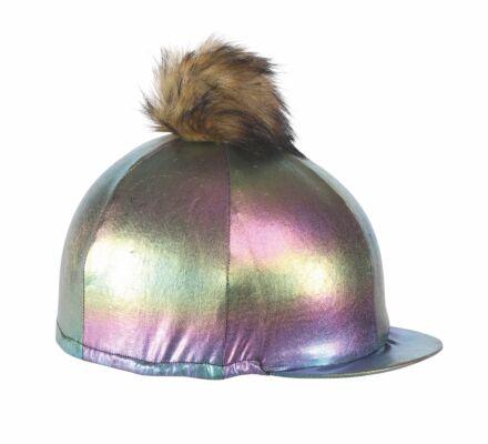 Shires Metallic Hat Cover- Rainbow