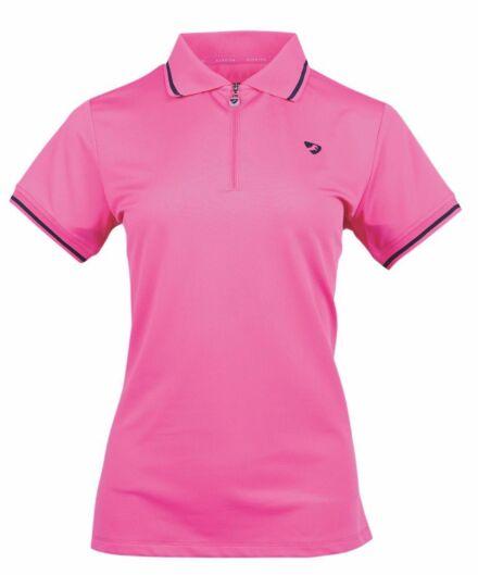 Shires Junior Aubrion Parsons Tech Polo- Pink