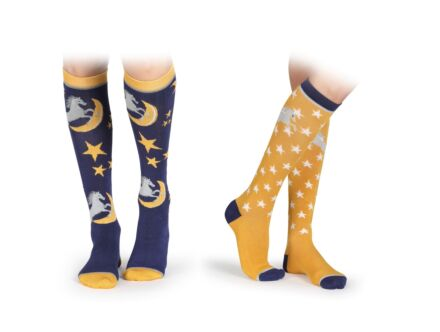Shires Bamboo Junior Socks 2 Pack- Horse