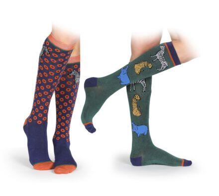 Shires Bamboo Socks 2 Pack- Safari