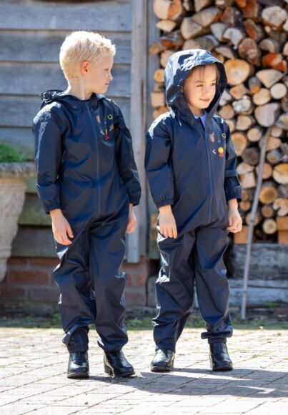 Shires Tikaboo Waterproof All In One Suit Childs's-Navy