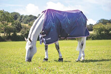 Shires Tempest Original 100g Turnout Rug- Purple Lightening