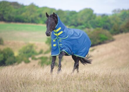Shires Tempest Original 50G Combo Turnout Rug- Blue/Lime