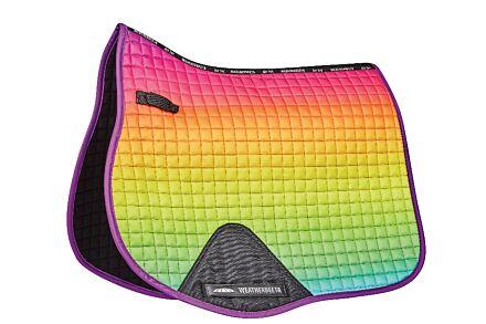 Weatherbeeta Prime Ombre All Purpose Saddle Pad-Rainbow