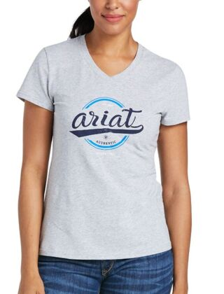 Ariat Women's Authentic Logo T-Shirt Heather Grey