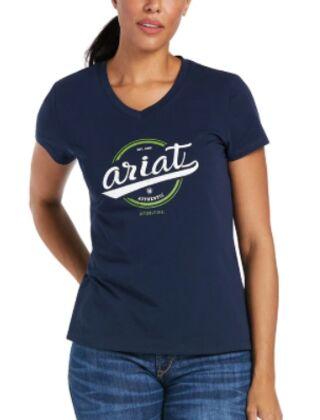 Ariat Women's Authentic Logo T-Shirt Navy
