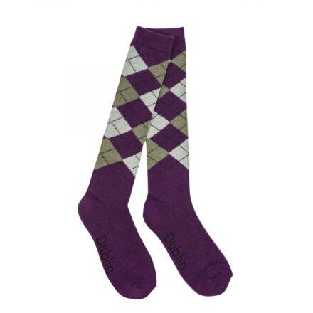 Dublin Argyle Socks -Purple/Ash