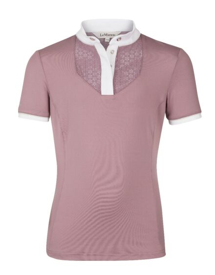LeMieux Young Rider Show Shirt with Bib Musk/White