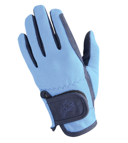 Hy5 Children's Every Day Two Tone Riding Gloves Navy/Blue