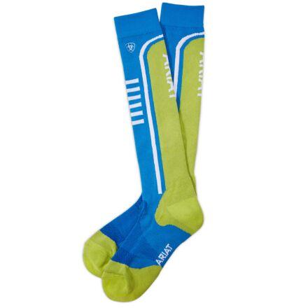 AriatTEK Slimline Performance Socks Blue/Peridot