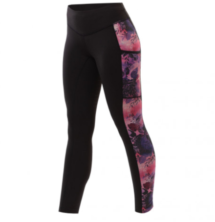 Equetech Botanical Riding Tights- Black/ Floral