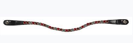 LeMieux Spectrum Diamante Black Leather Browband Mulberry