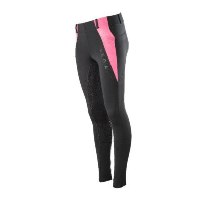 Legacy Children's Riding Tights-Black/Candy Floss