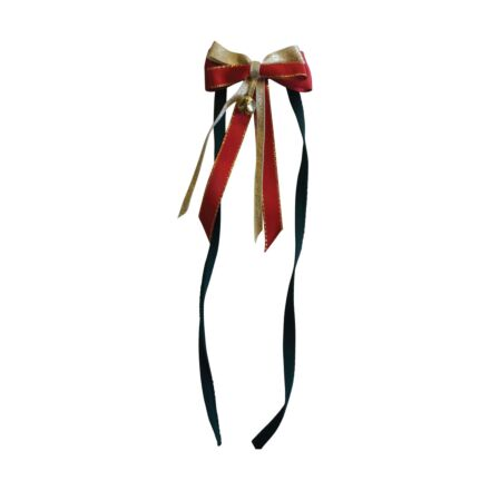 ShowQuest Christmas Tail Bow and Bell Ribbon