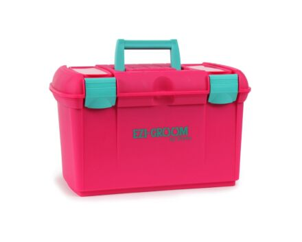 Shires Ezi-Groom Two Tone Grooming Box Pink