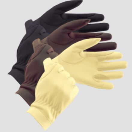Equetech Junior Leather Show Gloves Brown