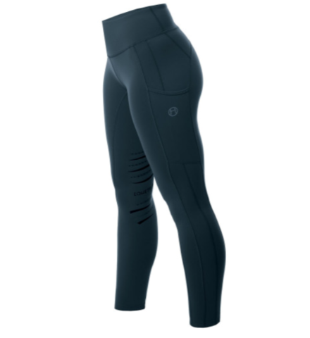Equetech Inspire Riding Tights- Peacock Blue