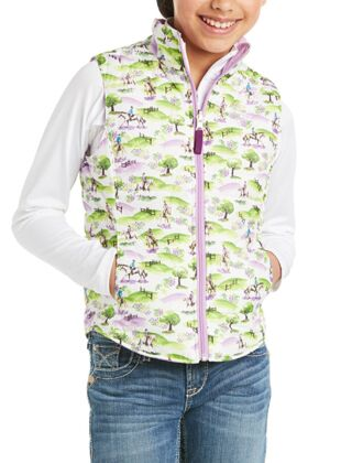 Ariat Youth Emma Reversible Insulated Vest Hunt Scene