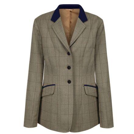 Equetech Junior Foxbury Tweed Riding Jacket- Olive