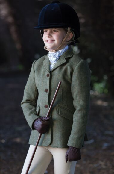 Equetech Claydon Junior Tweed Riding Jacket