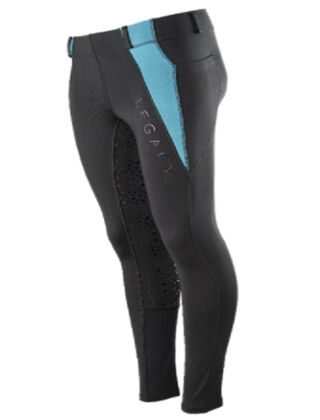 Legacy Children's Riding Tights Black/Turquoise