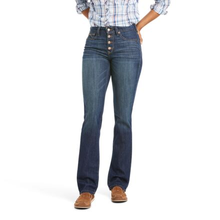 Ariat Women's R.E.A.L Highrise Kirstin Straight Jeans Pacific