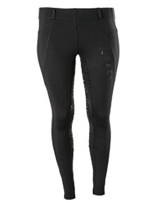 Legacy Winter Full Grip Ladies Riding Tights - Black