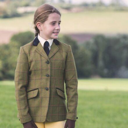Equetech Junior Launton Deluxe Tweed Riding Jacket